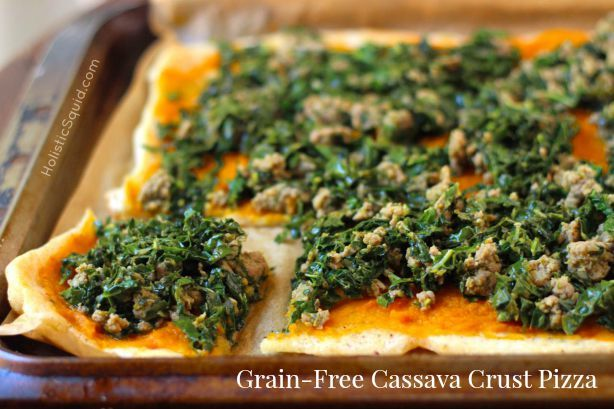 Cassava Pizza with toppings