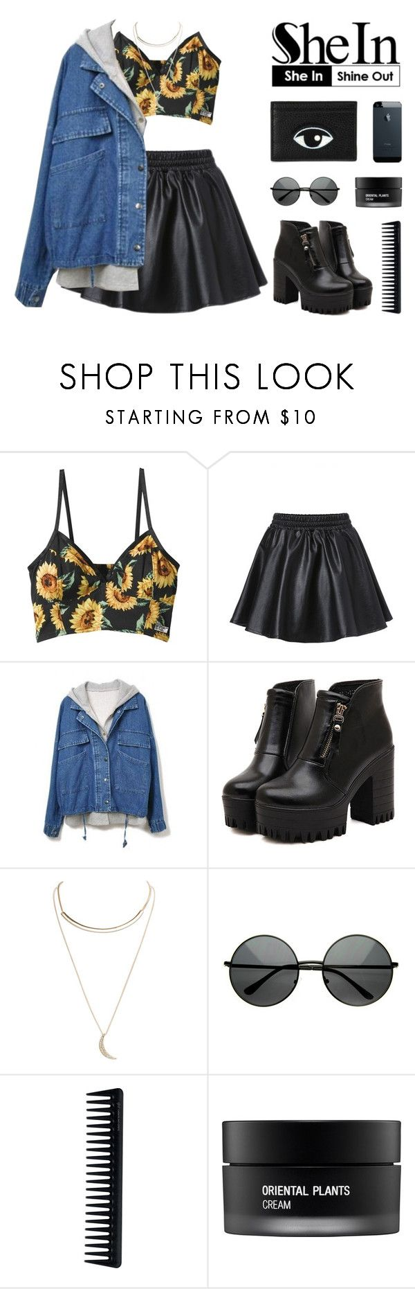 """""""O9.23.15   first day of autumn & SheIn"""" by carechristine ❤ liked on Polyvore featuring Dr. Martens, Wet Seal, GHD and Koh Gen Do"""