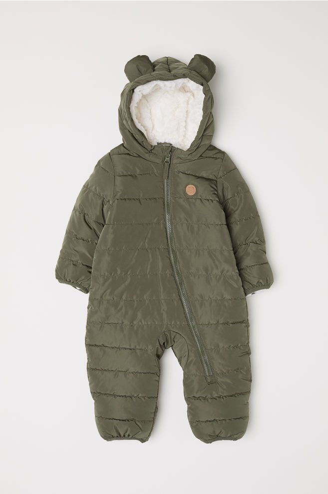 1f075b41cc0f Pile-lined Jumpsuit - Khaki green - Kids