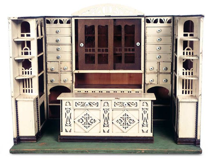 Art Nouveau style, wooden German doll house store ... attributed to  Schreiber - 121 Best Dolls, Furniture, Antique Images On Pinterest Dollhouses