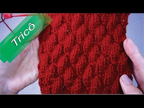 DIY - Tricô - Ponto Gomos (Passo a Passo) Mari Trentini - YouTube