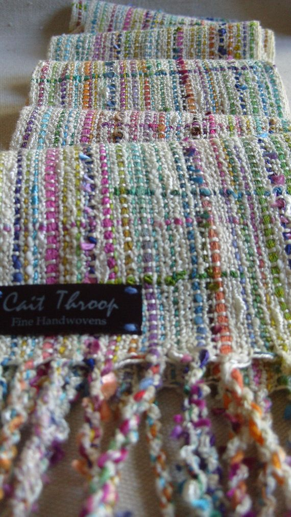 Handwoven Scarf Spring Woven Scarf by barefootweaver on Etsy, $84.00