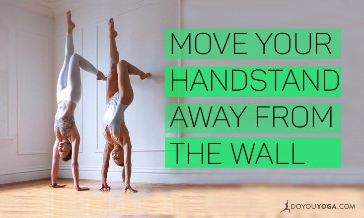 Have you been stuck in wall handstand purgatory forever?  Start to step away!