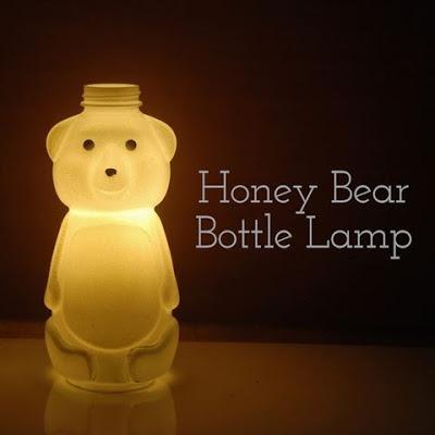 Honey Bear Bottle Lamp