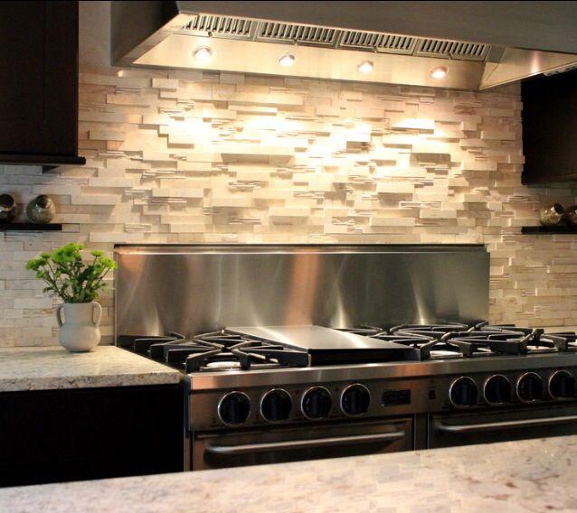 Stacked Stone Backsplash Kitchen Backsplash Photos