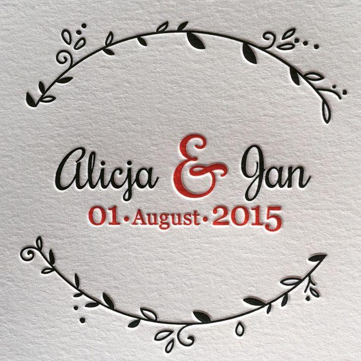 Letterpress Hochzeitskarten. Geprägt sind Sie einfach am schönsten. #Letterpress #Weddinginvitation #Pantone #Lettering