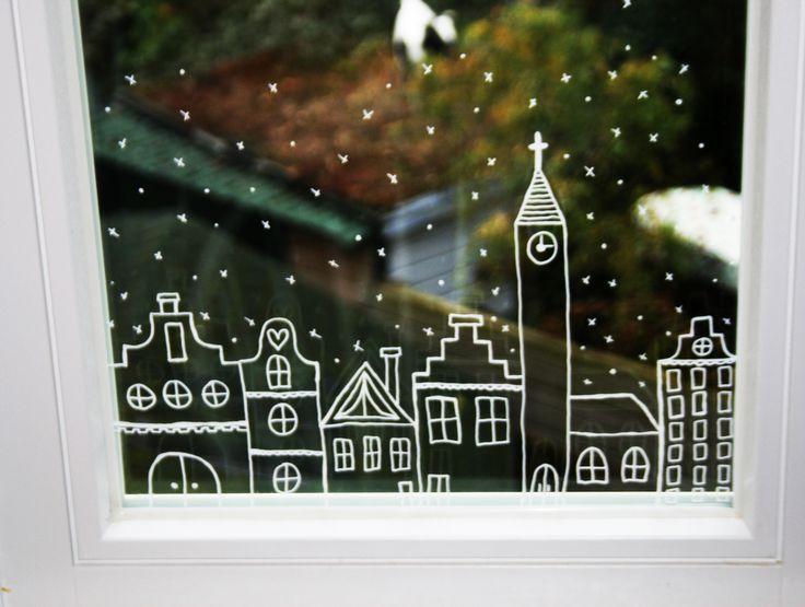 60 идей украшений на окна к Новому 2016 году http://happymodern.ru/ukrasheniya-na-okna-k-novomu-2016-godu/ Украшаем наши окна рисунками кистью