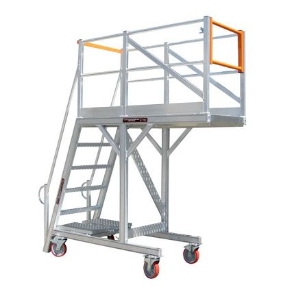Aluminium ladder for height access and maintenance
