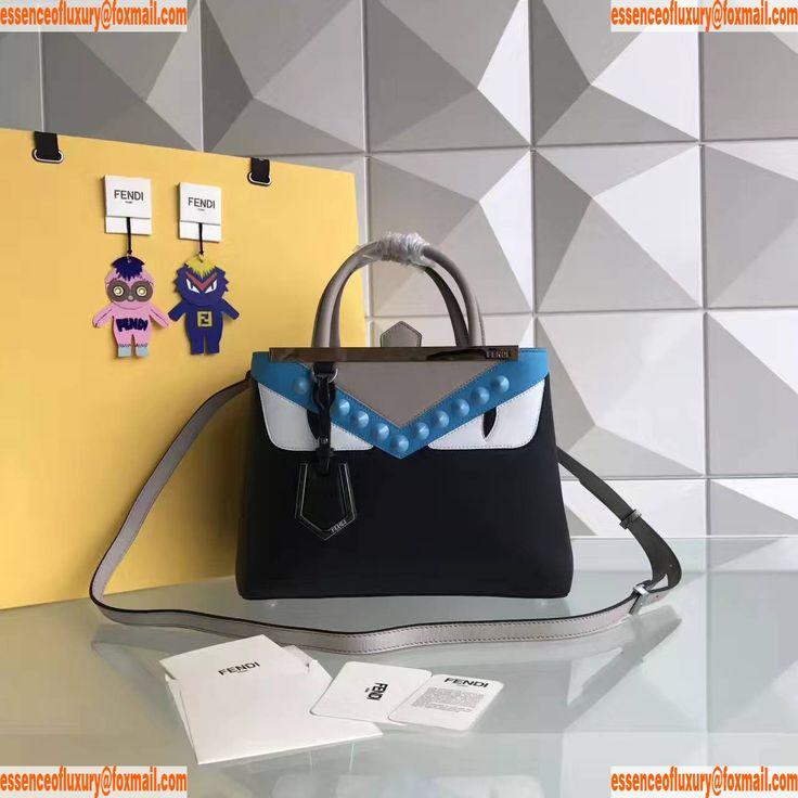Replica Womens Handbags Fendi 2Jours Leather Tote Bags 568S 26CM A99PP1180 AA16423