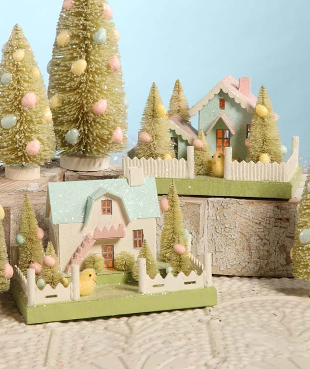 Does Lowes Sell Christmas Trees: 17 Best Images About Putz Paper Houses On Pinterest