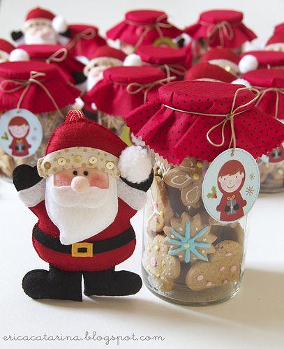 Que tal um biscoitinho de presente todo estilizado... é natal!!                                                                                                                                                                                 Mais