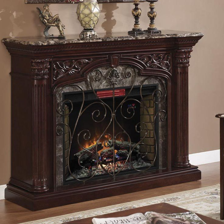 Classic Flame Astoria Infrared Fireplace Mantel - Empire Cherry - TSI416
