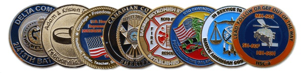 Challenge coin could be a little coin or medallion (usually military), bearing AN organization's badge or emblem and carried by the organization's members. historically, they're given to prove membership once challenged and to boost morale. additionally, they're additionally collected by service members.