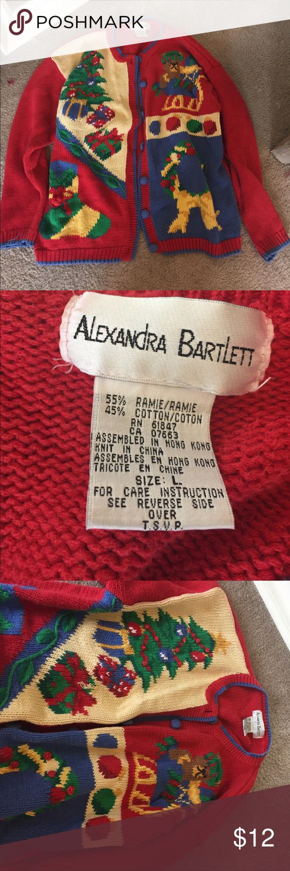 Tacky Christmas Sweater 🎄 Fun, comfy, tacky Christmas sweater! Only worn once for a tacky Christmas party! Make an offer or bundle w/ other items to save more 💕 Alexandra Bartlett Sweaters