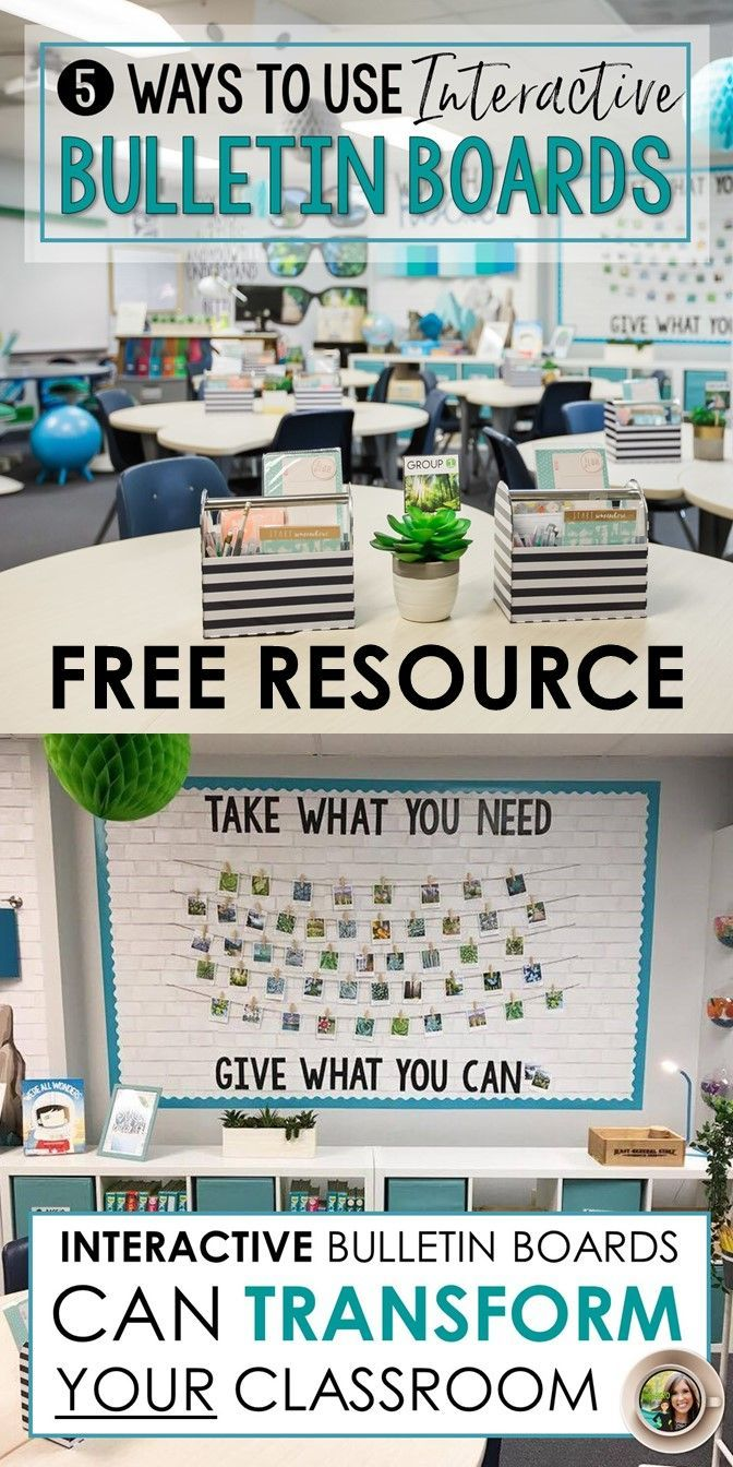 Learn to use interactive bulletin boards in your classroom   Middle and high school English   FREE bulletin board template included