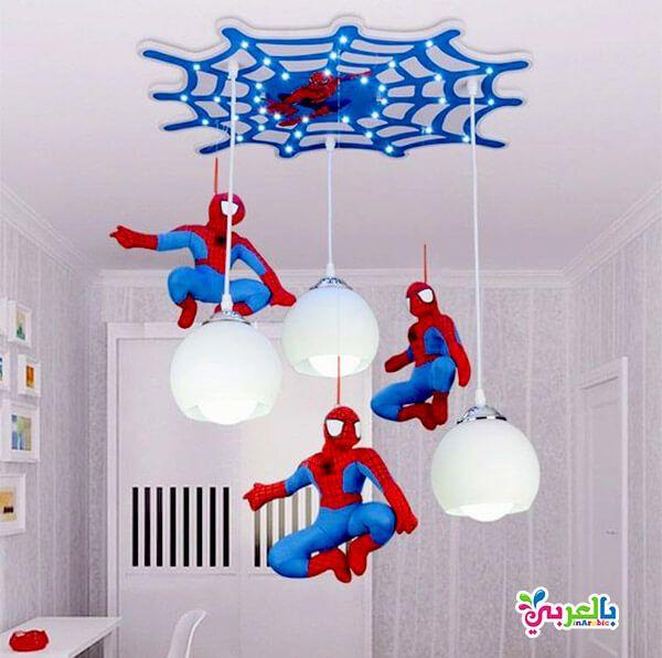 الوان غرف نوم اطفال جديدة دهانات غرف اطفال حديثة بالعربي نتعلم Children Room Boy Spiderman Room Bedroom Ceiling Light