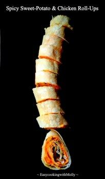 Spicy Sweet Potato and Chicken Roll Ups – EasycookingwithMolly