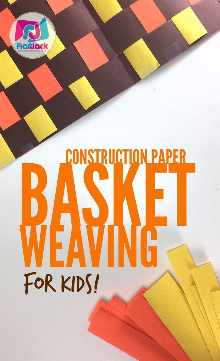 Basket Weaving For Elementary Students : Construction paper and this on
