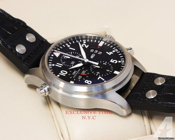 IWC Double Pilots Chronograph Black Dial IW377801 UNWORN Price On Request