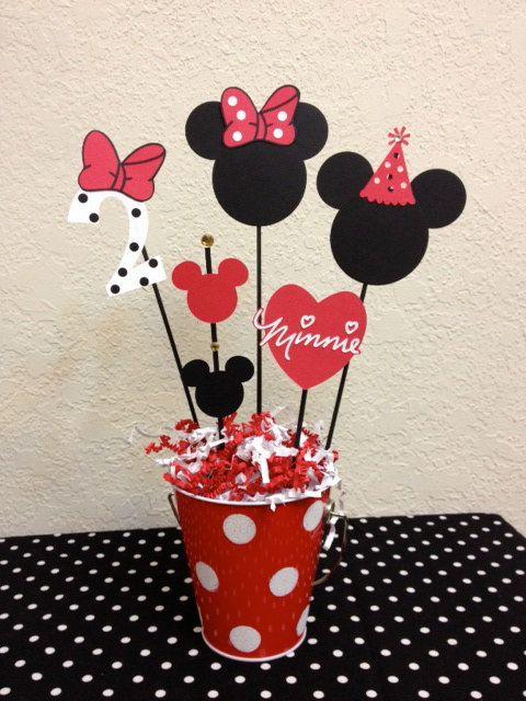 Minnie Mouse Birthday Decoration Centerpieces by TheGirlNXTdoor