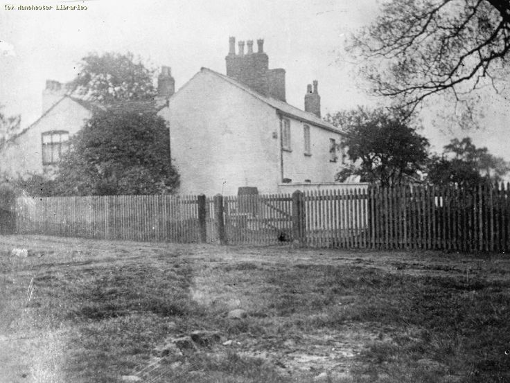 Pepperhill Farm in Moss Side (1890) - the farm was located in  the eastern side of what is now Broadfield Park and Great Western Street.