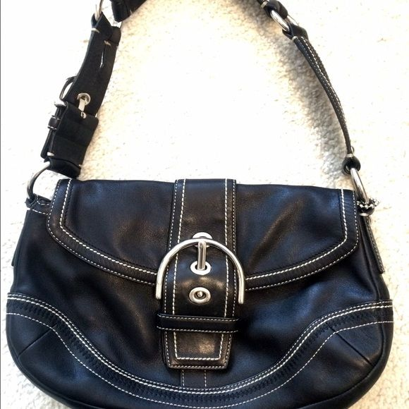 Coach Black Leather Hobo Bag K0682 10578 This Bag Is Like