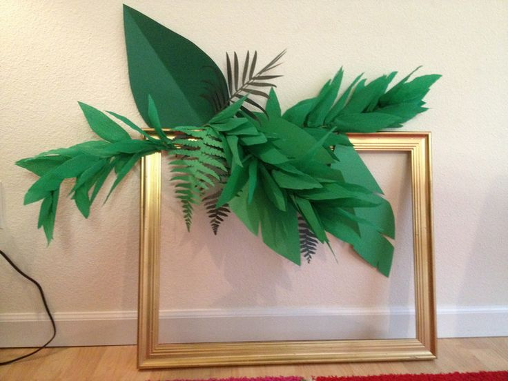 Crepe paper tropical garland - picture tutorial