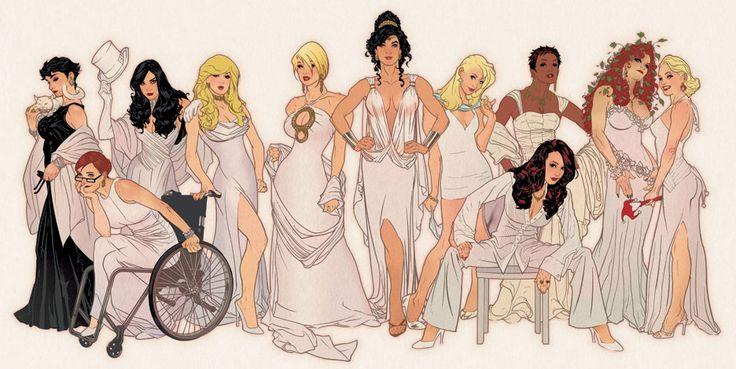 DC Ladies ~ Adam Hughes
