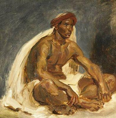 Oriental assis, par Eugène Delacroix