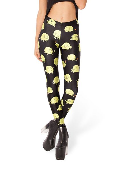 Elephants Pattern Printed Leggings