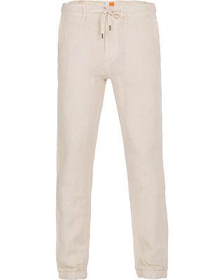 BOSS Orange Seth -D Linen Trousers Open White