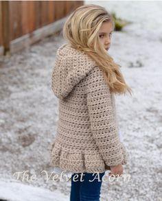 CROCHET PATTERN-The Veilynn Sweater (2, 3/4, 5/7, 8/10, 11/13, 14/16, S/M, L/XL…