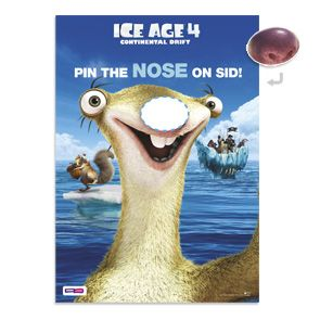 To celebrate the Blu-RayTM and DVD release of ICE AGE 4: CONTINENTAL DRIFT on November 28th, we've created this hilarious 'Pin the nose on Sid' game to help you liven up the party. Kids can take turns to be blindfolded, twirled around and then attempt to pin the nose on Sid. It's a sure way to get all the kids laughing and having fun. Exclusive to PIXMA Printables.Paper size: A4 Paper type: Canon MP101 Matte Photo Paper (or equivalent) Setting: Borderless ...