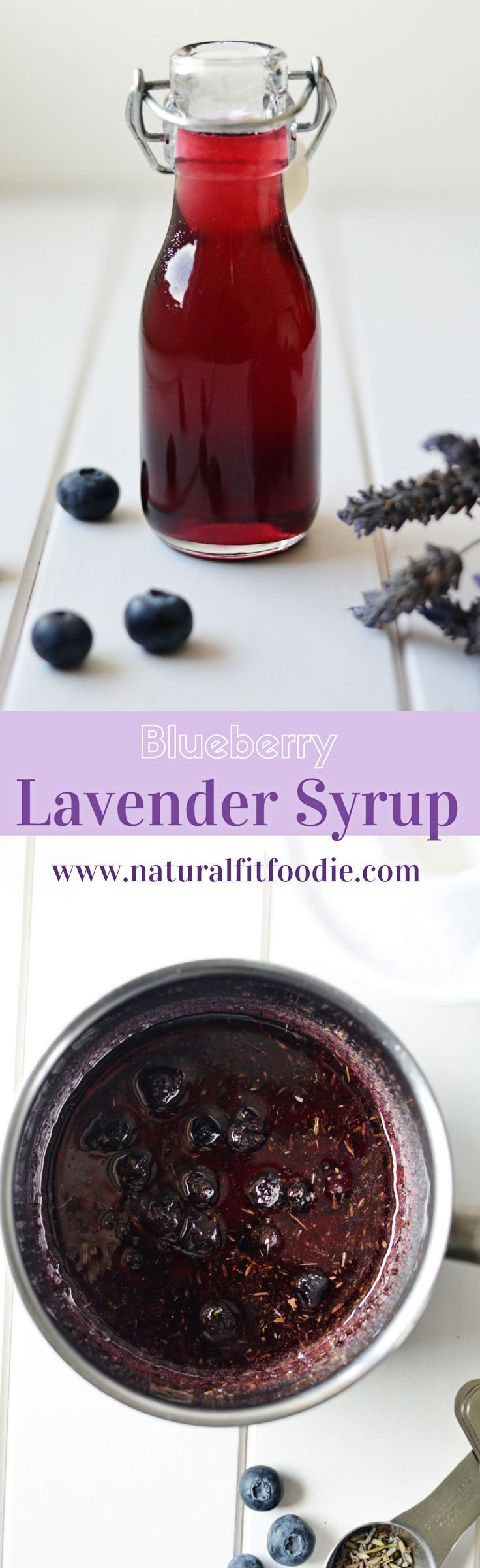 This blueberry lavender syrup is extremely versatile and good for you! Add a lovely botanical flavour to your coffee, tea, cocktails, yogurt and more.