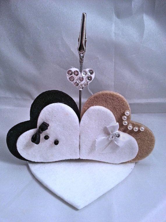 1 portafoto in feltro - segnaposto - per il tuo giorno speciale: il MATRIMONIO