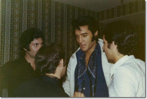 Elvis Presley : Las Vegas : August 12, 1969.taken in Elvis' dressing room on August 12, 1969 between the Dinner and Midnight Show -
