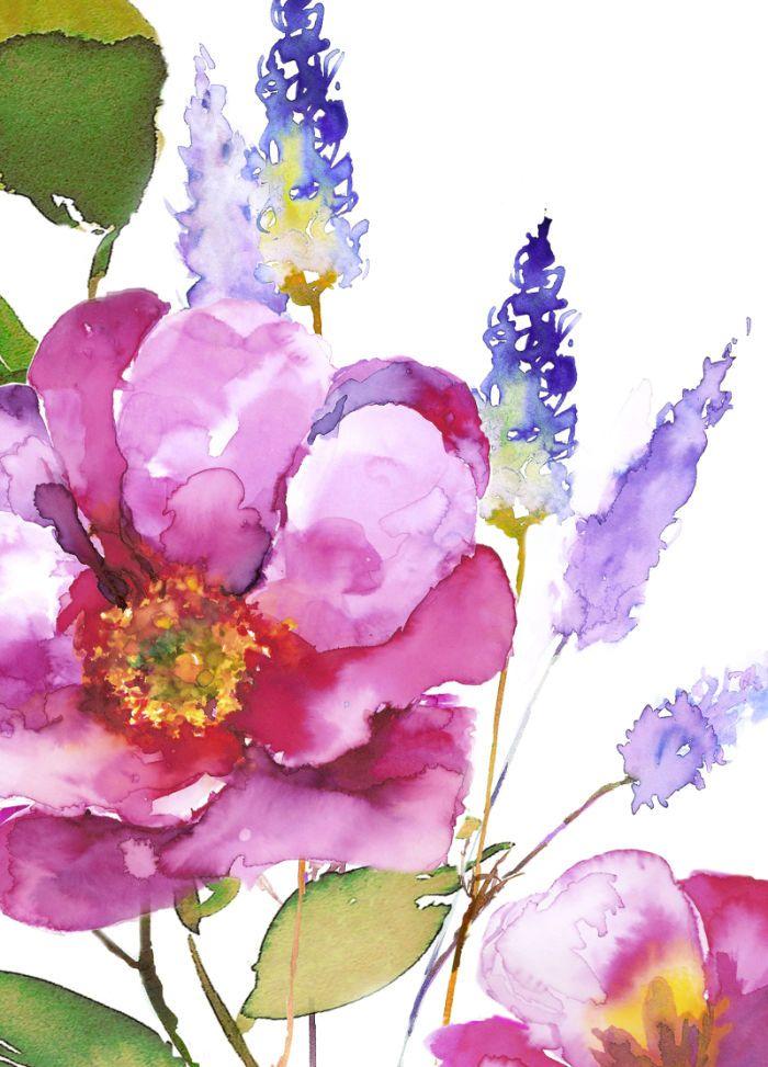 Новогодние, акварель цветы для открыток
