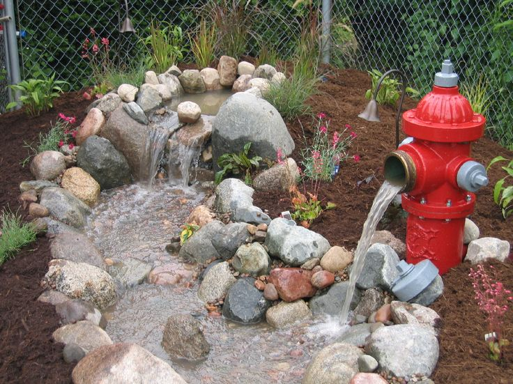Fire hydrant waterfalls | ... Landscapes - Northern Illinois Ponds, Waterfalls and Landscape Design