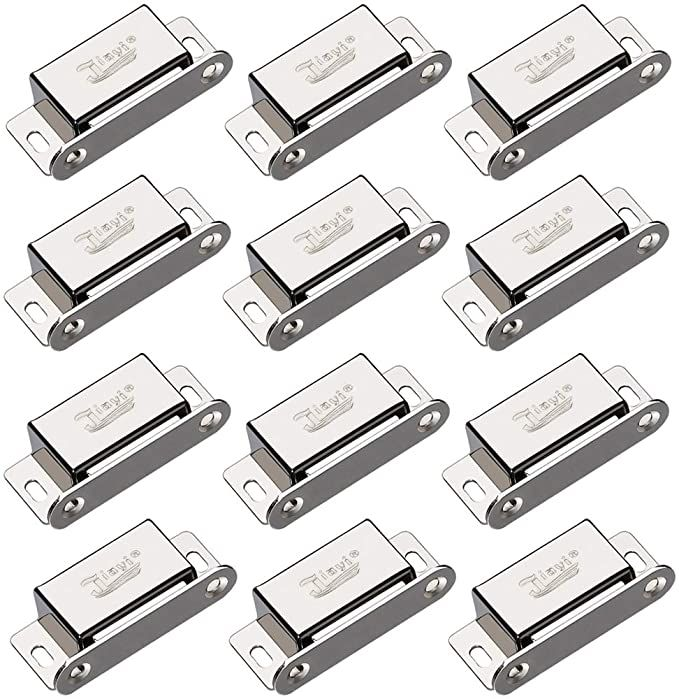 Cabinet Magnetic Catch Jiayi 12 Pack Magnetic Closures For Cabinet Door Magnetic Cabinet Catch 15lbs Rv Drawer Latc In 2020 Steel Cupboard Cabinet Latch Closet Kitchen