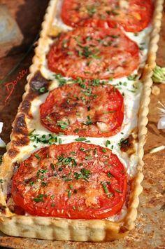Tarte aux poireaux, tomates.... et ricotta