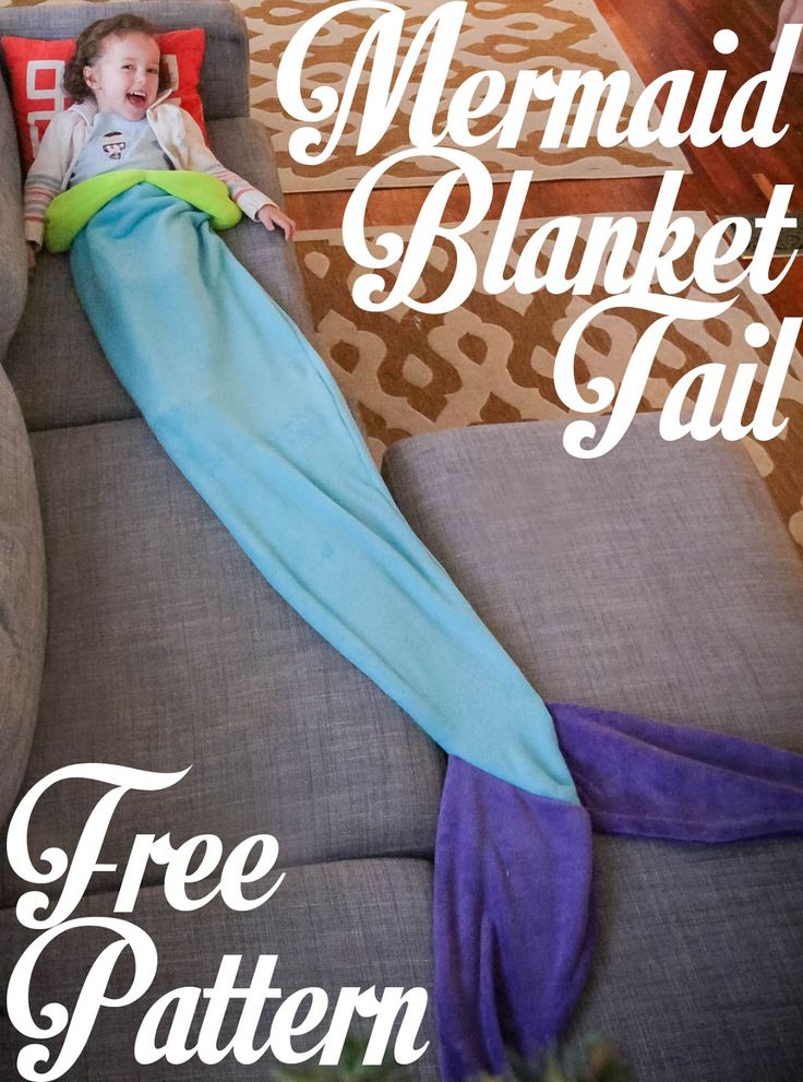 Grosgrain: Mermaid Tail Blanket: Free Pattern