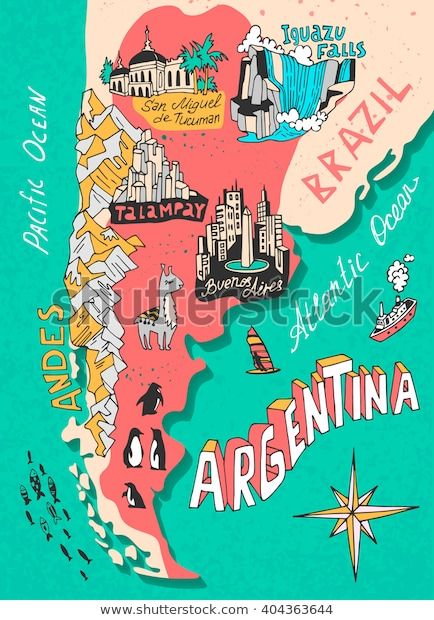 Argentine, Argentina Travel, En Stock, Map Illustrations, Cool Stuff, Veronica, Drawings, Packaging, Printables