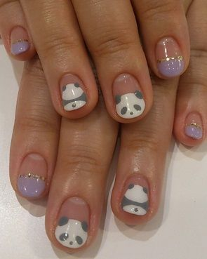 Image via   Panda nail art designs