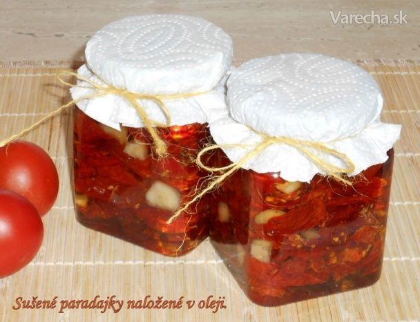 Sušené paradajky naložené v oleji (fotorecept)