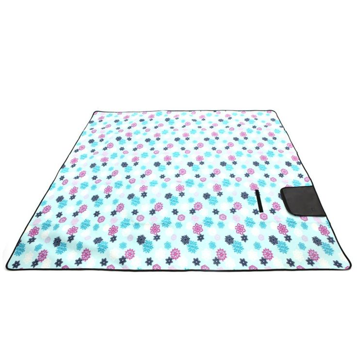 XXL-Large Outdoor Picnic Blanket CHANODUG Picnic Blanket Tote, Sand Escape Compact Outdoor Beach Blanket, Waterproof Backing Soft Fleece Camping Tote Mat (Light Blue). COMFORTABLE THREE LAYERS - Soft micro-fleece fabric on the top, 2 mm sponge layer in middle and Aluminum foil bottom. It has soft and sturdy fabric, perfectly COMFORTABLE for people with different weights, especially for babies because they won't get hurt from small stones or moisture. EXTRA OVERSIZED: Extra Large Blanket...