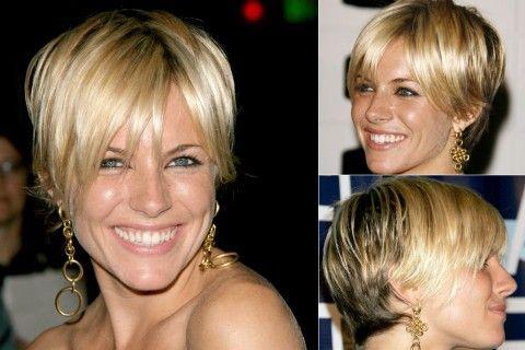 Sienna Miller - celebrity short hairstyles - short hair