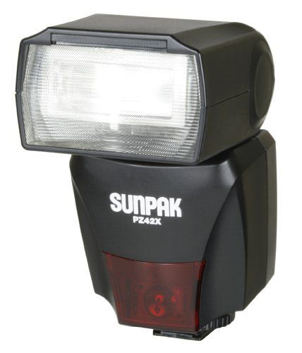PZ42X Flash for Nikon Digital Cameras by SUNPAK. $141.76. On camera flash dedicated for the latest Nikon DSLR cameras. Has bounce and swivel capabilities and a built-in diffuser. Guide number of 138.