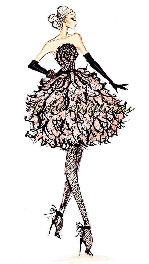 Hayden Williams Fashion Illustrations: Hayden Williams Haute Couture Fall/Winter 2012.13 pt 3