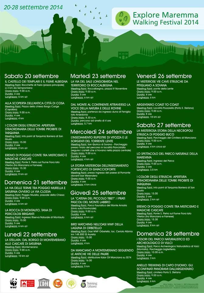 Explore Maremma Walking Festival 2014