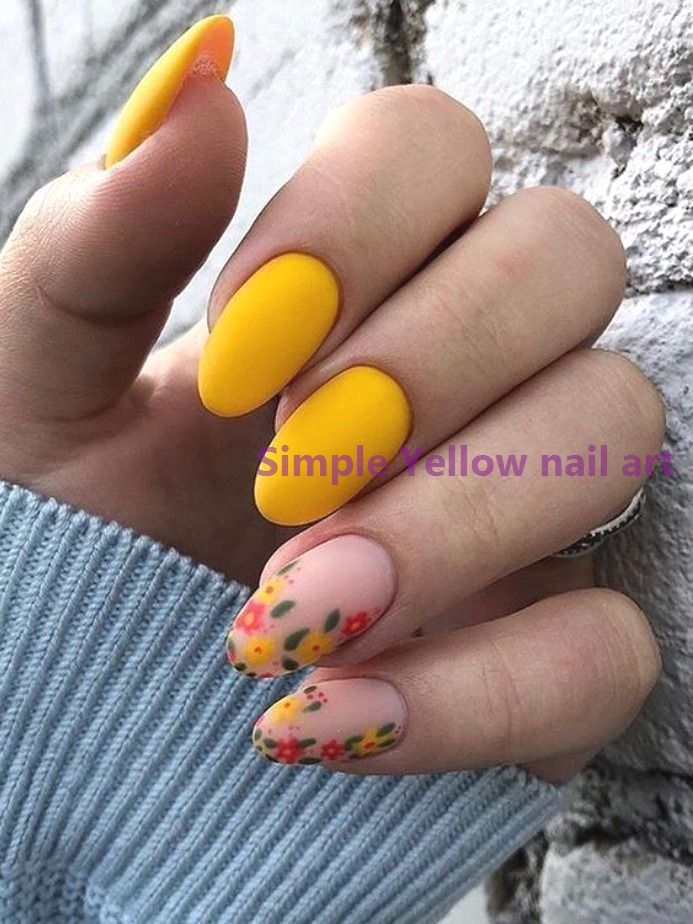 23 Great Yellow Nail Art Designs 2020 Nailideas In 2020 Yellow
